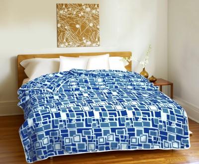 CURL UP Geometric Single Dohar Blue, White