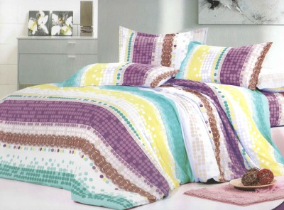 Skilin Abstract, Striped Double Quilts & Comforters Multicolor