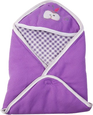 Utc Garments Checkered Single Blanket Purple, Dark Purple, White