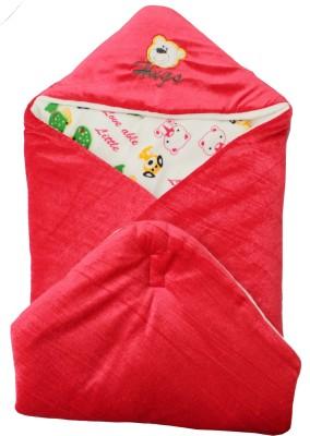 My NewBorn Animal Single Hooded Baby Blanket Orange
