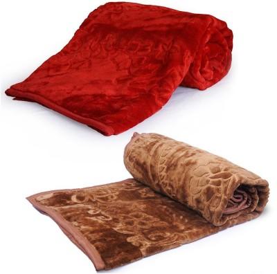 Indigocart Abstract Double Blanket Maroon
