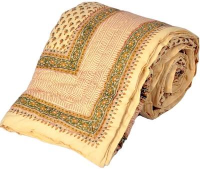 Jaipur Raga Floral Single Quilts & Comforters White