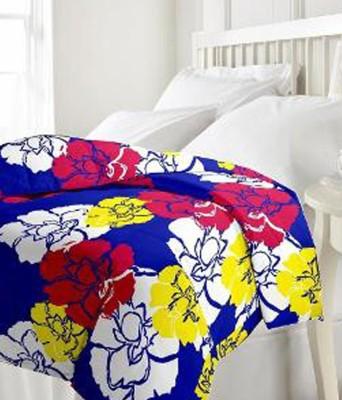 Nakoda Abstract Single Dohar Blue, White, Yellow, Red