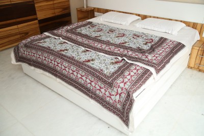 Exkklusiv Rajasthan Floral Double Quilts & Comforters Red