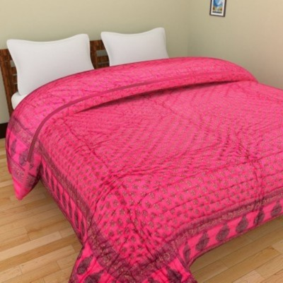 N decor Floral Double Quilts & Comforters Pink