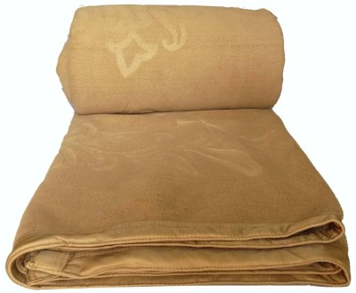 Kotcosy Striped Double Blanket Gold