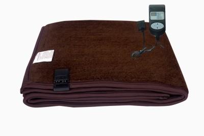 Winter Care Plain Single Electric Blanket Brown