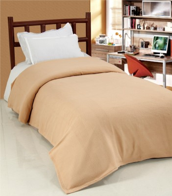 Surhome Plain Single Blanket Beige
