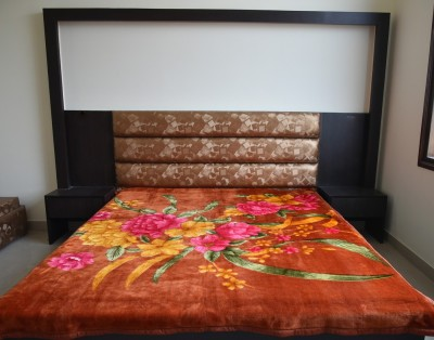 DHANI Printed Double Blanket Orange