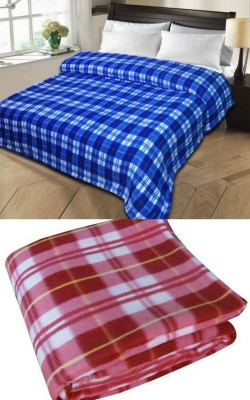 Shopgalore Checkered Double Blanket Multicolor