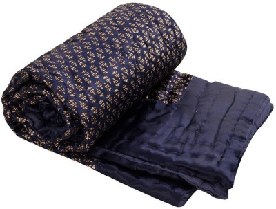 The Ethnic Story Floral Double Blanket Blue