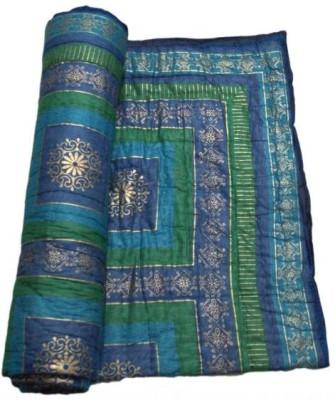 RSimpex Floral Double Quilts & Comforters Blue