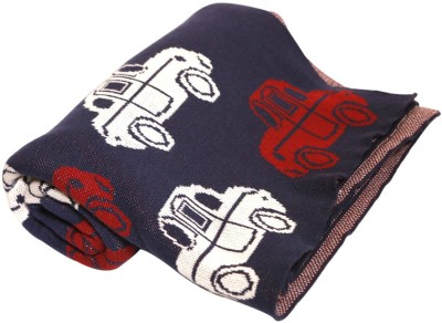 Pluchi Abstract Single Blanket Red
