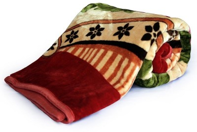 Home India Floral Double Blanket Red