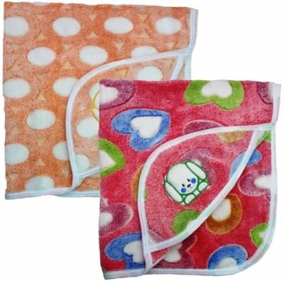 Brandonn Polka Single Hooded Baby Blanket Multicolor