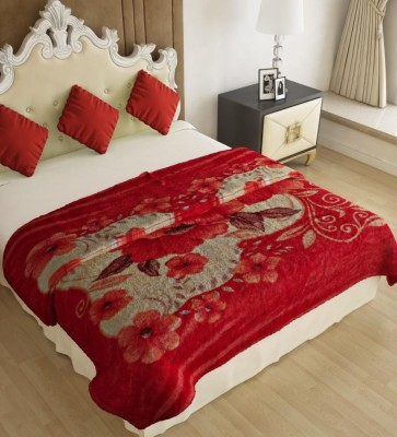 Home Candy Floral Double Blanket Multicolor