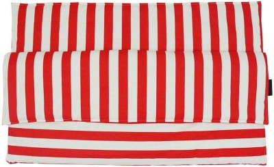 Wobbly Walk Striped Single Blanket Red, White