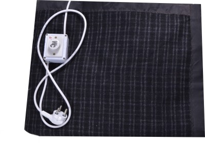 Winter Care Checkered Single Electric Blanket Black