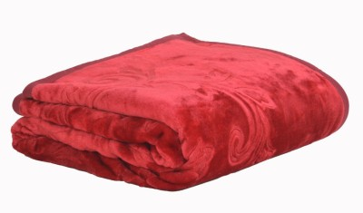 Pasricha Handlooms Plain Double Blanket Maroon