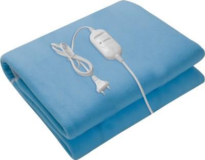 Ezyhome Plain Double Electric Blanket Blue