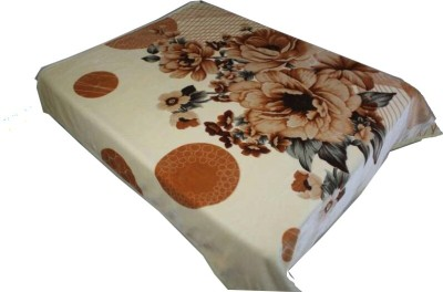 Holy Angel Floral Double Blanket Beige