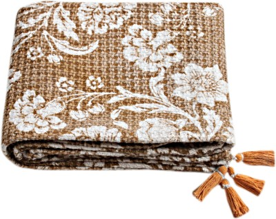 Saral Home Printed Queen Throw Beige