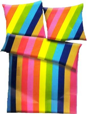 Amk Quilt Striped Double Quilts & Comforters Multicolor