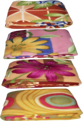 Galaxy Floral Single Blanket Multicolor