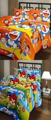 SR Crafts Cartoon Single Dohar Multicolor