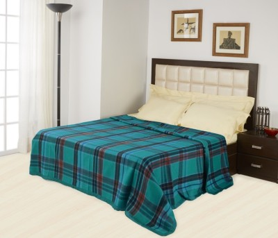 Raymond Home Plain Double Blanket Blue