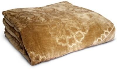 Monil Floral Double Blanket Brown