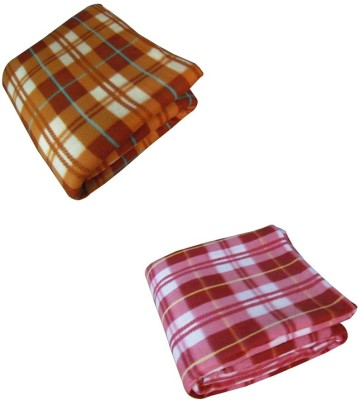 optimistic Home Furnishing Checkered Double Blanket Multicolor