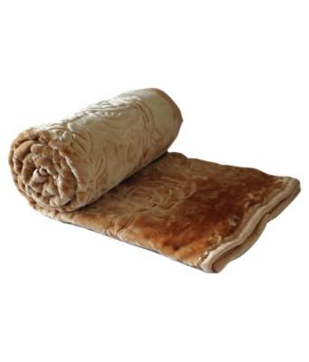 Bigshoponline Plain Double Blanket Beige