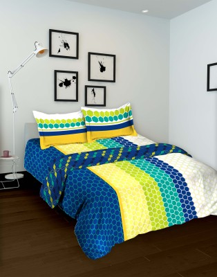 Tomatillo Geometric Double Quilts & Comforters Blue, Green