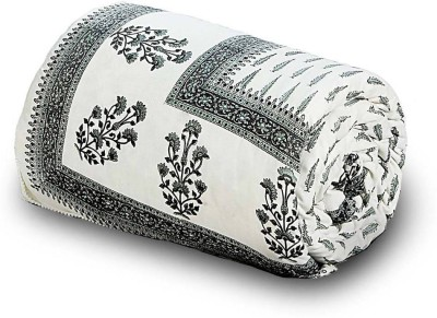 Home India Floral Double Quilts & Comforters Grey