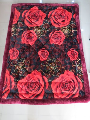 Florida Floral Single Quilts & Comforters Red