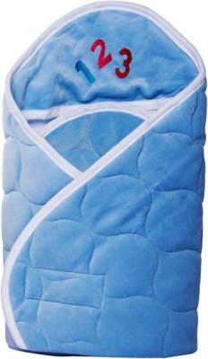 Manorath Plain Crib Blanket Blue