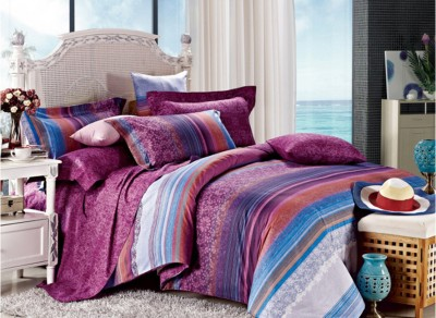 Zyne Floral, Striped Double Quilts & Comforters Multicolor