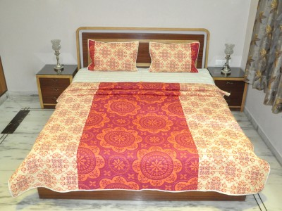 Lal Haveli Embroidered Queen Quilts & Comforters Maroon