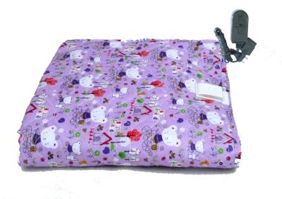 Winter Care Plain Single Electric Blanket Multicolor