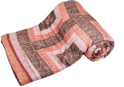 Jaipurtextilehub Checkered Double Quilts & Comforters Brown