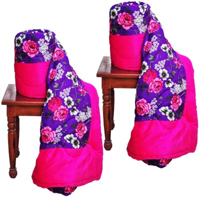 Artisan Creation Floral Single Quilts & Comforters Purple