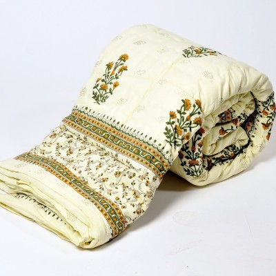 Kiran Udyog Floral Double Quilts & Comforters White