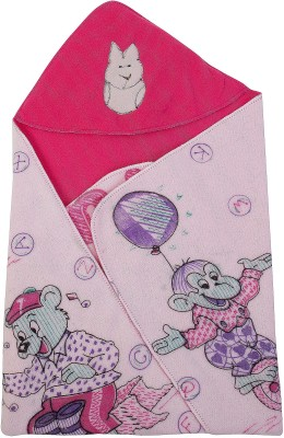 Utc Garments Cartoon Single Hooded Baby Blanket Purple, Green, Pink, Red, Blue, Darkpink, Orange