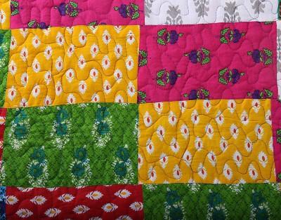 Krishnam Abstract Double Blanket Blue, Multicolor