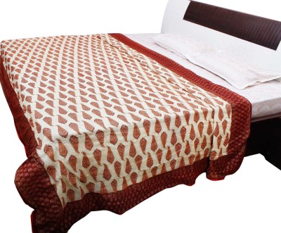 Jaipur Raga Abstract Double Quilts & Comforters Maroon
