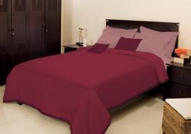 Bombay Dyeing Plain Single Blanket Maroon(Fleece Blanket, 1 Single Blanket)