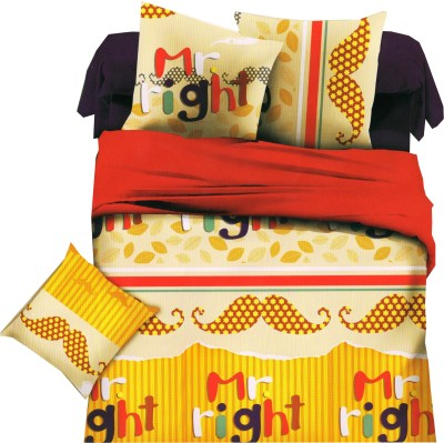 Welhouse Abstract Double Quilts & Comforters Yellow