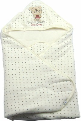 Ahad Plain Single Hooded Baby Blanket Off White
