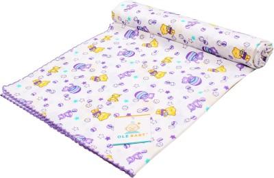 Ole Baby Printed Single Swadding Baby Blanket Purple